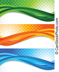 Set of wavy banners Abstract colorful illustration