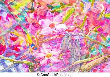 Abstract  hand painted flower  watercolor background