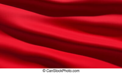 Red flag, 3d animation perfect seamless loop