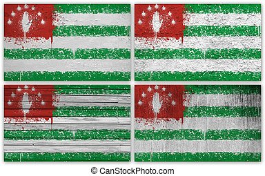 Abkhazia flag collage