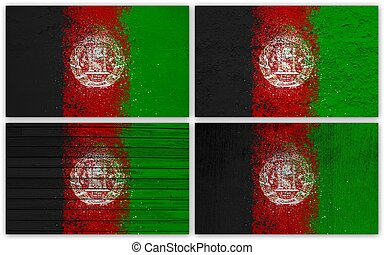Afghanistan flag collage