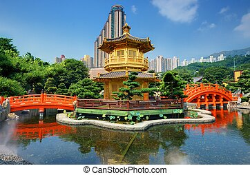 Nanl Lian Garden - Golden Pavilion of Perfection in Nan Lian...