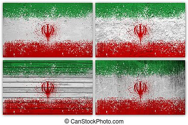 Iran flag collage