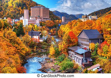 Jozankei - The Hot Springs resort town of Jozankei in the...