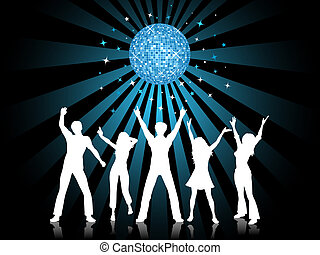 disco time - Silhouettes of people dancing