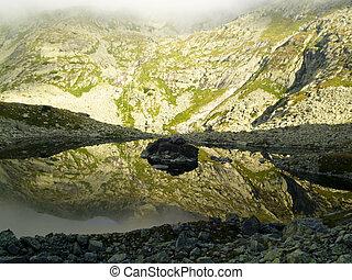 Small mountain pond
