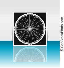 Bike wheel - flyer or cover design