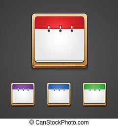 Vector illustration of high-detailed calendar icon in...