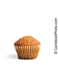 Muffin - A single muffin over white background.