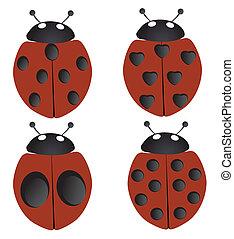 ladybugs - vector ladybugs