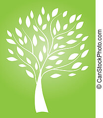 abstract tree - vector tree
