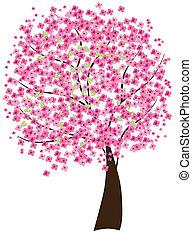 cherry tree - vector cherry tree
