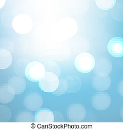 Blue Background With Bokeh And Blur, Vector Illustration