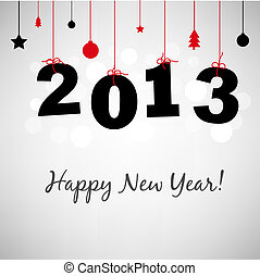 Happy New Years Card - 2013 Happy New Years Card, Vector...