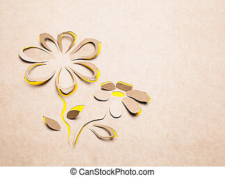 Flower handmade - Image of abstract yellow flower...