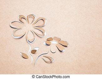 Flower handmade - Image of abstract white flower...
