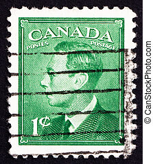 Postage stamp Canada 1949 King George VI, King of England