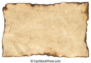 Blank Parchment Paper - Aged Blank Parchment Paper with...