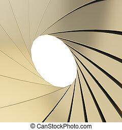 Abstract background as a golden shutter mechanism
