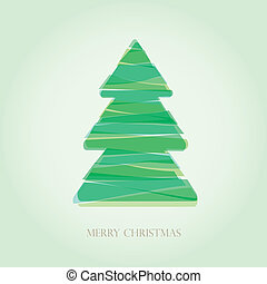 Simple vector christmas tree made -