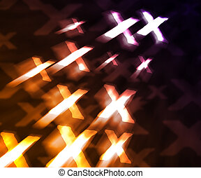 Orange XXX Abstract Background