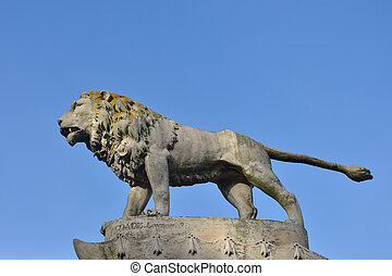 Stone Lion outdoors