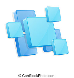 vector background with blue 3D panels