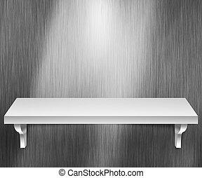 Empty Shelf Metal Background