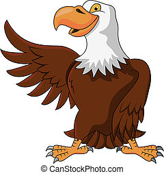 Eagle cartoon - Vector illustration of eagle cartoon
