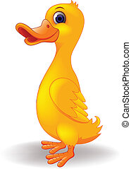 Funny duck cartoon - Vector illustration of funny duck...