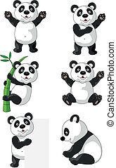 Panda cartoon - Vector illustration of panda cartoon...
