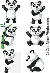 Panda cartoon - Vector illustration of panda cartoon...