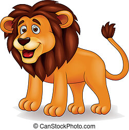 Lion cartoon - Vector illustration of funny lion cartoon