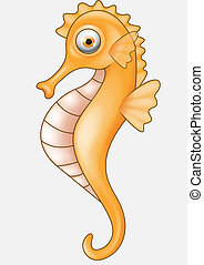 Seahorse cartoon - Vector illustration of Seahorse cartoon