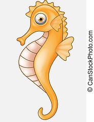 Seahorse cartoon - Vector illustration of Seahorse cartoon