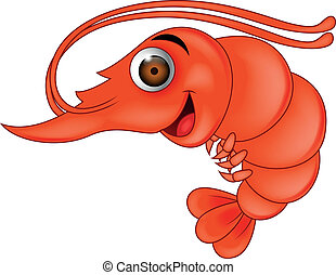 Shrimp cartoon - Funny shrimp cartoon
