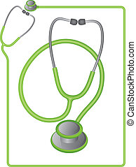 Medical Stethoscope - Stethoscope icon and border