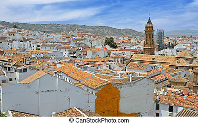 Spanish white town Antequera - Antequera is one of famous...