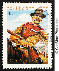 Postage stamp Canada 1992 Jerry Potts, Guide, Interpreter -...