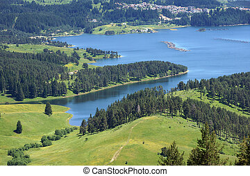 Dospat dam - View from Dospat dam situated in Rodopi...