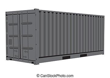 Metallic container - Graphic illustration of metallic...