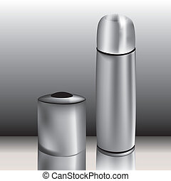 Mug and thermos - Graphic illustration of mug and thermos