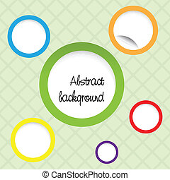 Creative design of a retro background with circles over...
