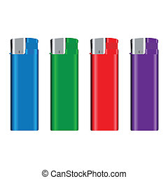 Lighters - Some lighters over white background
