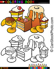 cakes and cookies for coloring