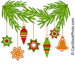Christmas ornaments - Christmas hanging ornaments from fir...