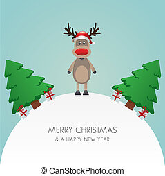 reindeer hat tree white background world