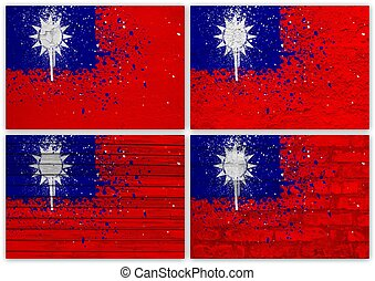 Taiwan (Republic of China) flag collage