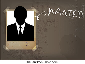grunge wanted poster design