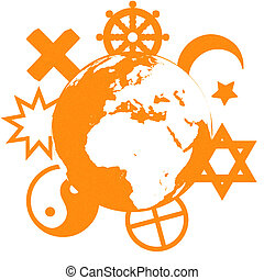 Religious symbols of our planet